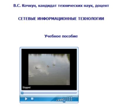 вставить видео в электронную книгу